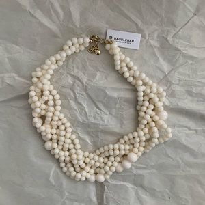 ✨ Baublebar Cream Beaded Statement Necklace ✨